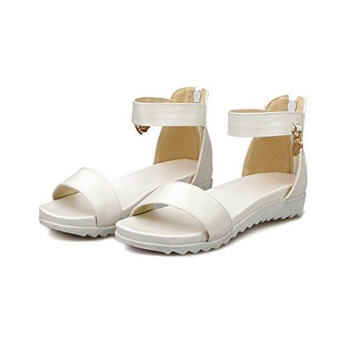 Blanc Blanc Bout Femme Ouvert BalaMasa 5 36 qg7P8