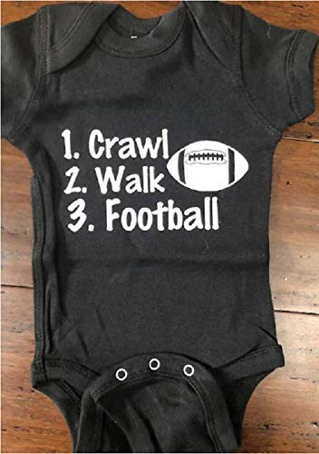 crawl walk football baby one piece future football player infant bodysuit