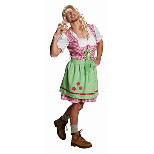 Männer Dirndl Lustiges Trachtenkleid L 52 Oktoberfest Kostüm Bayrisches Männerballett Kleid Trachten Männerkleid Junggesellenabschied JGA Bayern Dirndlkleid Karneval Kostüme Herren