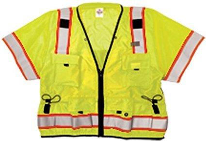 ML Kishigo S5010 Ultra-Cool Polyester Professional Surveyors Vest, 3X-Large, Lime
