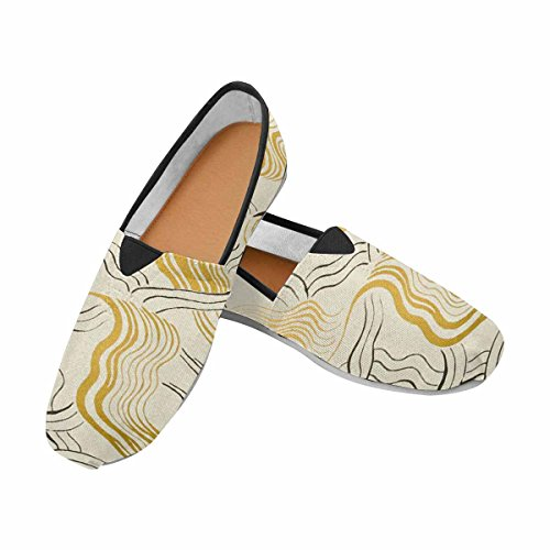 Women's Casual Canvas Slip-On Shoes with Padded Insole