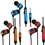 Importer520 3 Pack Combo In-Ear Earphone Earbud + Mic Compatible with LG Optimus Logic L35g/Dynamic L38c(Net 10, Straighttalk)
