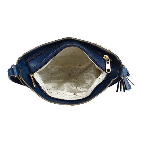 Da Eslingas Leather Blue Crossbody Bag
