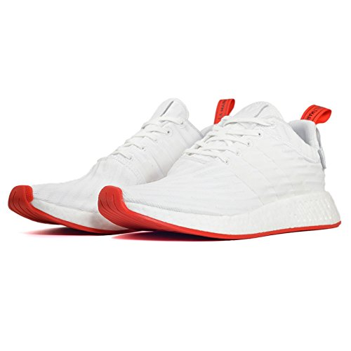 Adidas NMD R2 Prime Knit BA72 (7.5, white/ red)