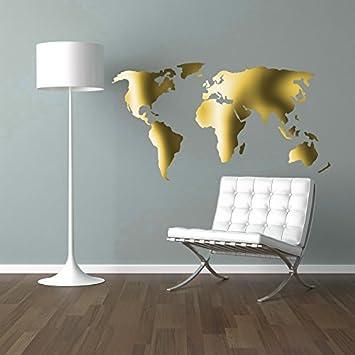 Weltkarte Worldmap Wandtattoo Wandaufkleber Sticker Aufkleber Wand