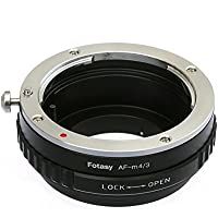 Fotasy AMAF Sony Minolta MA AF Lens to Micro Four Thirds M4/3 MFT System Camera Mount Adapter (Black)