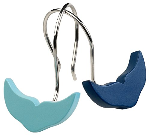 Zenna-Home-12-pc-Whales-Tail-Shower-Curtain-Hook-One-Size-Blue