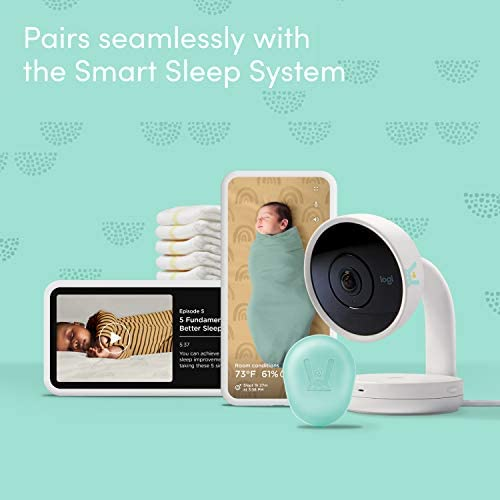418TcuwN4UL. AC - Lumi By Pampers Smart Baby Monitor: Camera With HD Video & Audio – WiFi – Night Vision – Temperature & Humidity Tracking And Two Way Audio