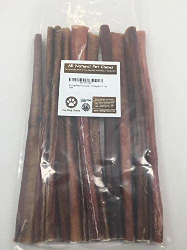 Top Dog Chews Thick Grade AA 12 Bully Sticks 12 Pack