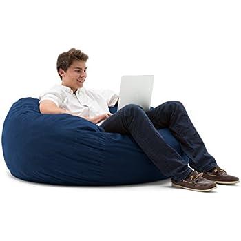 Big Joe Large Fuf Foam Filled Bean Bag Chair, Comfort Suede, Blue Sky