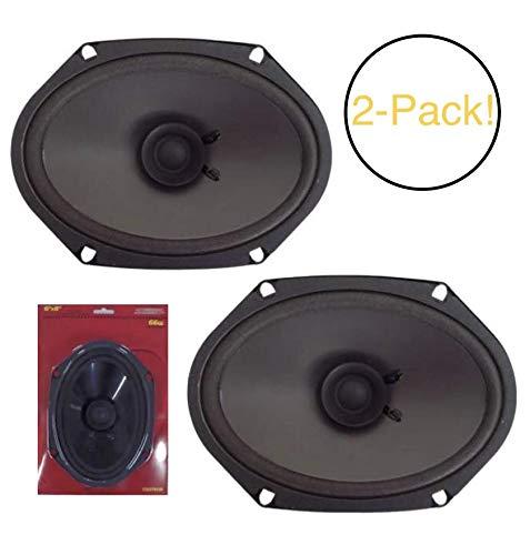 Sondpex CS07608 OEM 6x8 Inch Dual Cone Replacement Speaker 66W RPM 2-Pack