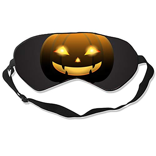 Halloween Pumpkin with Happy Face On Dark Cute Sleep Eye Mask, Therapy for Insomnia Puffy Eyes, Super Soft and Light, for Sleeping, Shift Work,Blindfold Eyeshade for Men and Women Kid -