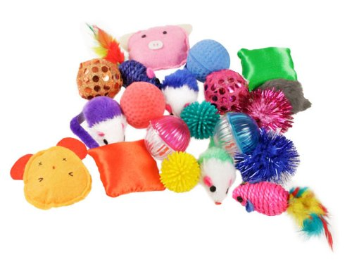 Grab bag assorted 20 pieces cat toys bag, My Pet Supplies