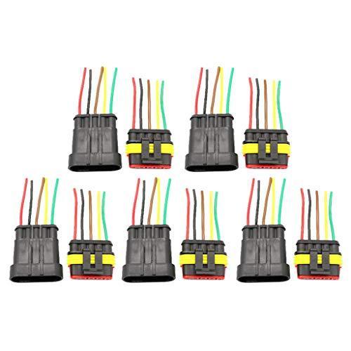 B Blesiya 5 Kits 5 Pin Way 10 AWG Waterproof Connector Wire Series Terminal Connector Black: