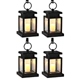 Meio Solar Mission Lantern, Hanging Solar Lantern,Solar Powered Waterproof Hanging Umbrella Lantern Candle Lights, Lighting & Decoration(4 Pack)