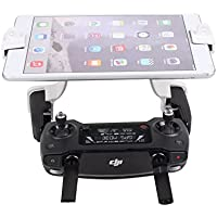 Shaluoman Dual Hook Support 7.9in 9.7in Tablet Bracket Remote Controller Clip for Spark & Mavic pro White