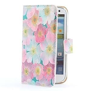 Funda de cuero estilo de la flor de la PU con ranura para tarjetas y soporte para Samsung i9300 Galaxy S3