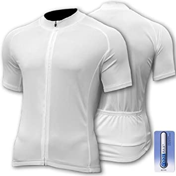 47d0fdbfd SPEG  Blanc  Short Sleeve CoolMax Cycle Cycling Jersey - Size  XL  44 quot