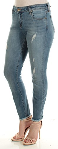KUT from the Kloth Womens Connie Denim Distressed Skinny Jeans Blue 10 by KUT from the Kloth