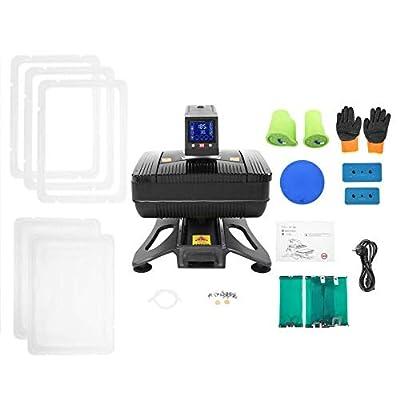Light Weight T-Shirt Heat Press Machine,2538cm Automatic Pneumatic 3D Sublimation Vacuum Heat Press Transfer Machine,Adopt Super Large LCD(2#)