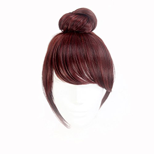 Stfantasy Wigs for Women Multi-color Short Straight Synthetic Updo Peluca 12 Inch 180g w/ free Wig Cap and Clips, Wine (Red Delicious Wig)