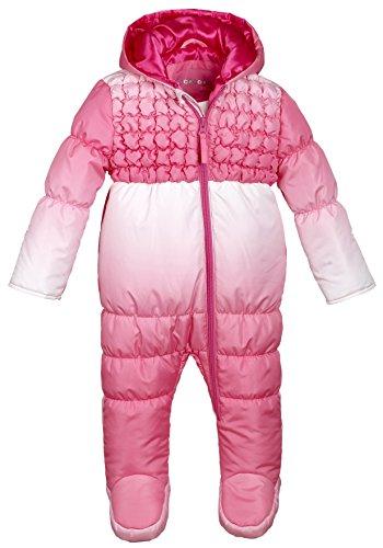 Wippette Infant Newborn Baby Girls Down Alternative Hooded Snowsuit Pram Bunting - Pink (Size 18 Months)