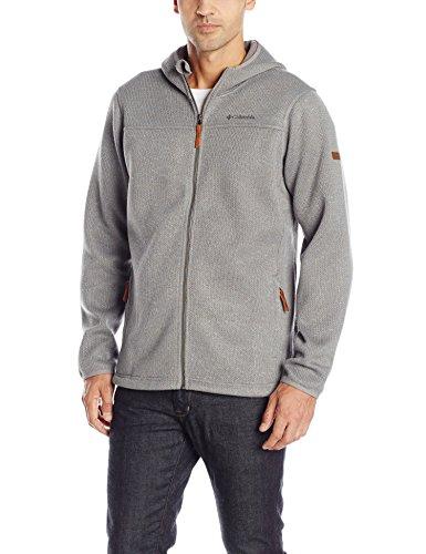 Hooded Boulder Cloth Jacket (Columbia Men's Canyons Bend Full Zip Fleece, Boulder, Medium )