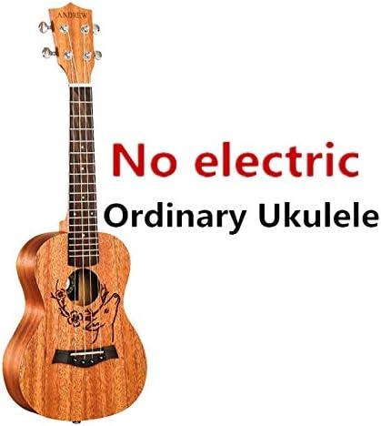 Ukelele 21/23 pulgadas, mini guitarra acústica eléctrica de ...