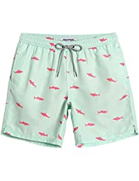 d3c13d419e Mens Short Swim Trunks Boys Quick Dry Beach Broad Shorts Swim Suit with  Mesh Lining