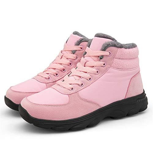 Femme Neige Bottes E Ubfen Chaussures Fourrure Chaud Boots Homme Chaussure Mode Bottines Montantes Baskets De Doublé Rose Hiver gRxRwIY