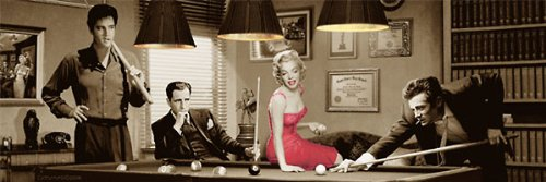 james dean and marilyn poster - 1