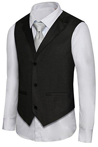 Hanayome Mens Formal Vest Casual Waistcoat Dress Vests Jackets VS05