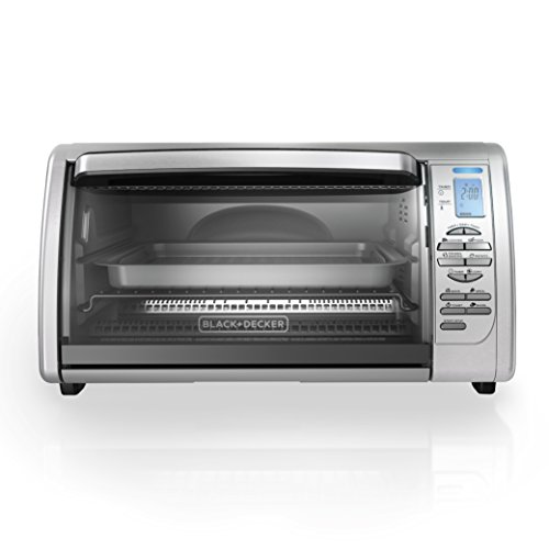 BLACK+DECKER CTO6335S 6-Slice Digital Convection Countertop Toaster Oven, Includes Bake Pan, Broil Rack & Toasting Rack, Stainless Steel Digital Convection Toaster Oven (Pans For Small Toaster Oven compare prices)