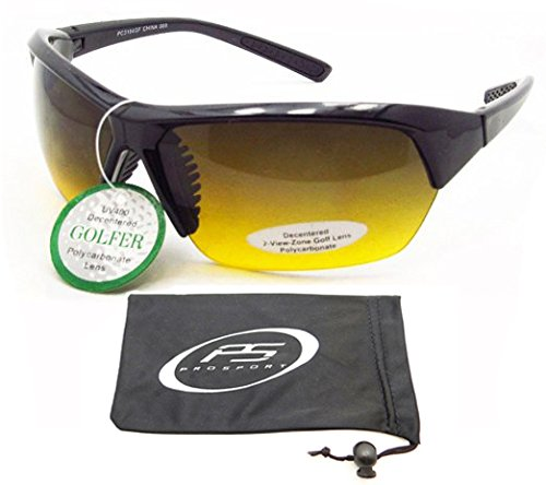 Gradient Sunglasses with HD lenses for golf, cycling, running, driving and sports activities. Fits Asian Faces. Free Microfiber Cleaning Case - Cheap Sunglasses Asian Fit
