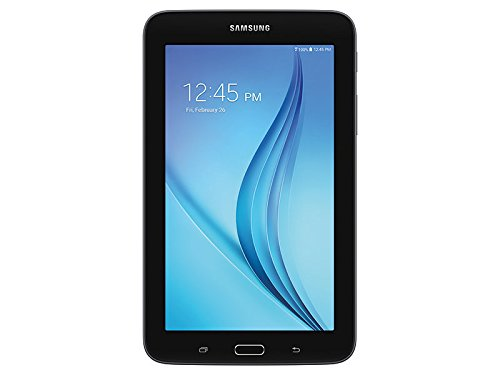 Newest Samsung Galaxy Tab E Lite Flagship Premium 7 inch Tablet PC | Spreadtrum T-Shark Quad-Core | 1GB RAM | 8GB | Bluetooth | WIFI | GPS Enabled | MicroSD Slot | Android 4.4 KitKat OS (Black) ()