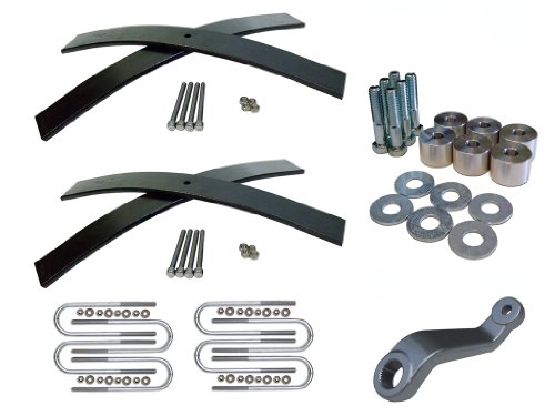 Jeep Wrangler YJ Front and Rear 2-3 Inch Lift Kit with Transfer Case Drop, Pitman Arm, and Ubolt Kit