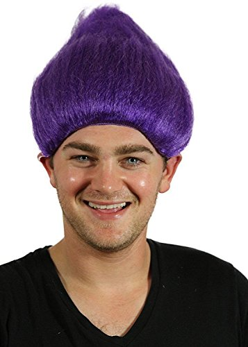 Troll Wig - #1 Quality Colorful Troll Costume Hair - 5 Colors Available - Cosplay Troll Wig (Purple) (Costumes For Groups Of 5)