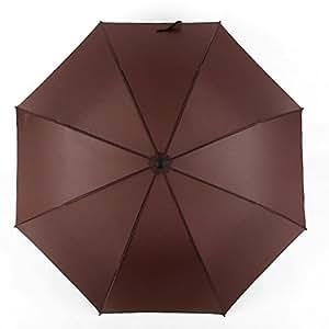 CENDA Strong Straight Umbrella, Windproof Waterproof Golf Sports 8 Ribs and anti ultraviolet umbrella brown
