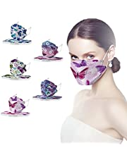 50Pcs Butterfly Disposable face_masks,4-Ply Meltblown Disposable Protective facemasks for women,Printed Breathable face_mask for Glasses Wearers,Floral Ma_sks Disposable with Design for Party Shopping