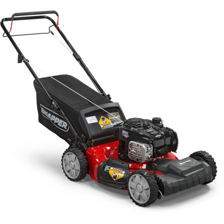 heel Drive Self Propelled Gas Mower with Side Discharge, Mulching, and Rear Bag (Snapper Mulching Mower)