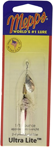 Wooly Worm - Mepps Aglia Ultra Lite Wooly Worm Single Hook Fishing Lure, 1/18-Ounce, Silver/White Tail