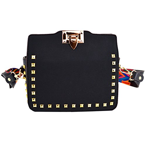Crossbody Small Colorful Strap Bag Purses Handbag Fashion Black Shoulder Felice YqxUCH