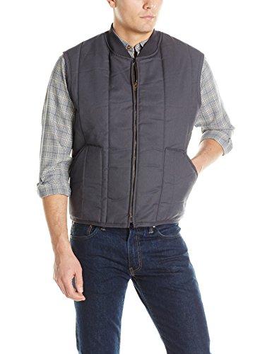 Red Kap Men's Quilted Vest, Charcoal, -