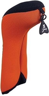 Stealth Club Covers 16110INT Fairway Wood ID 7-9-X Golf Club Head Cover, Flame Orange/Black