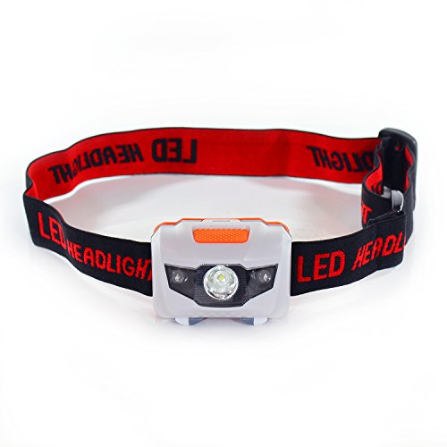[Otimo Headlamp Flashlight -- Adjustable, Light, Portable, Water and Shock Resistant, Bright 165 Lumen White LED and Red LED for Camping, Running, Hiking, Reading -- 3 AAA Batteries Included] (Sphere Wall Sconce Outlet Box)