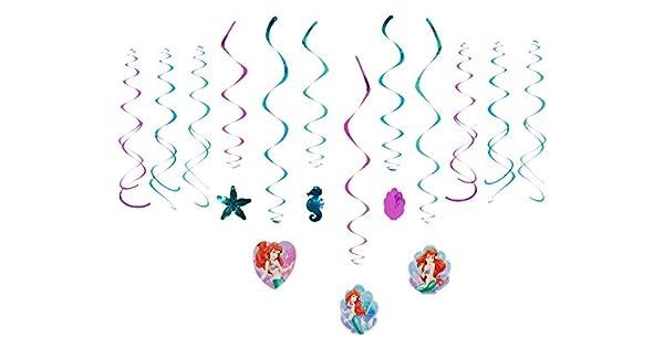 Amazon.com: Disney Ariel decorativos Remolinos Foil Hanging ...