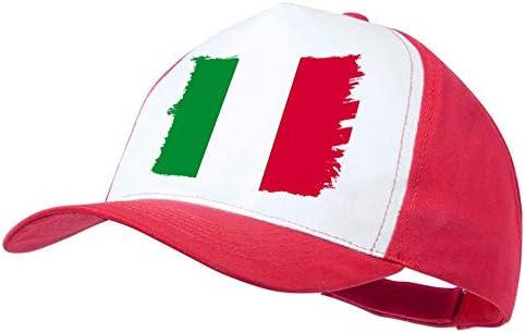 MERCHANDMANIA Gorra ROJA Bandera DE Italia Color Cap: Amazon.es ...