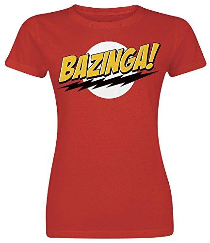 The Big Bang Theory Bazinga Girl-Shirt Rot XXL