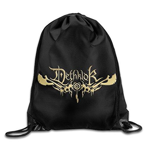 Golden Dethklok Death Metal Music Sport Backpack Drawstring Print Bag For Sale