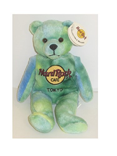 200 Hard Rock Cafe Tokyo Collectible Bean Bag Bear - Monty Beara 8.5